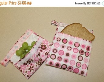 Back to School SALE snack bags, sandwich bags, lunch, bags, reusable