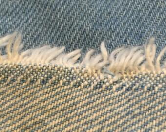 Vintage Denim Fabric. 1/2 yd. Thick Denim Fabric. Stonewashed Denim Fabric. Denim Fabric. Denim Upholstery Fabric.