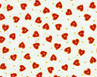 Hearts Fabric-Fabric With Hearts- 100% Cotton Fabric