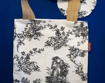 Toile de Jouy themed Bag-in-a-bag