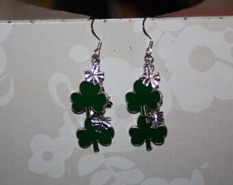 Double Clover Earrings