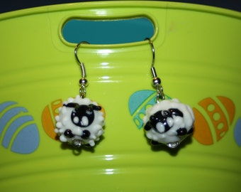Glass Sheep Earrings