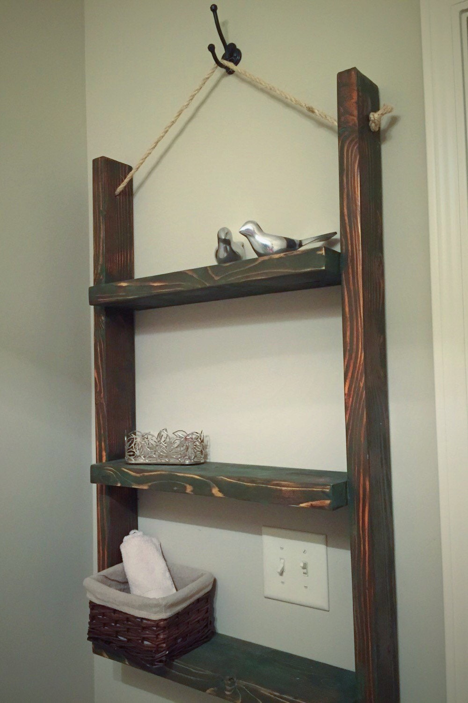 handcrafted three tier shelf bathroom by pretzelandgoudawood. Black Bedroom Furniture Sets. Home Design Ideas
