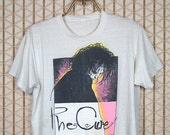 The Cure vintage & rare T-shirt, white tee shirt, soft and thin, Robert Smith, The Glove, Siouxsie and the Banshees