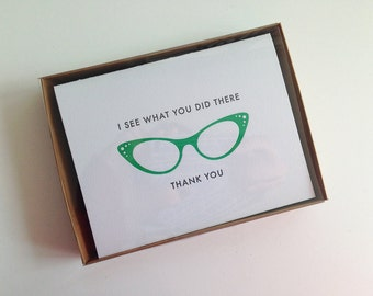 5 Letterpress Thank You Cards