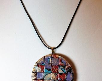 Mosaic V Pendant Necklace