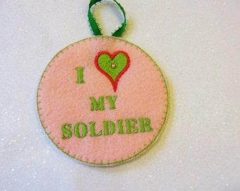 Army Wife Christmas Ornament Military Ornament Holiday decoration Felt ornament