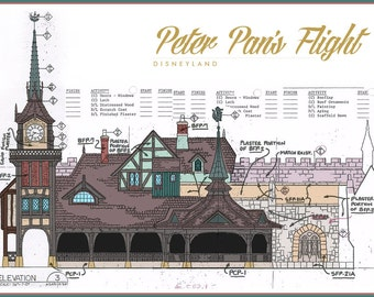 Disneyland - Peter Pan's Flight - Blueprint (Digital)