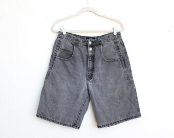 Vintage Black Denim Jean Shorts - Guess 80s/ 90s - 32W Waist