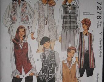 McCallsMisses Unlined Vests Pattern  #7276