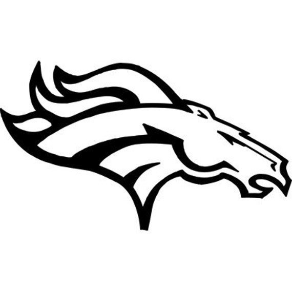 Sale Denver Broncos Logo Nfl Football Sticker Size 26x18