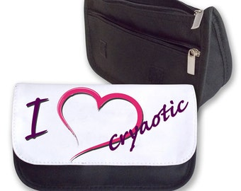 I love (heat) Cryaotic Pencil case/ make up bag