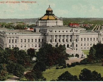 Washington, D.C. - Library of Congress _ Postcard - 1940's