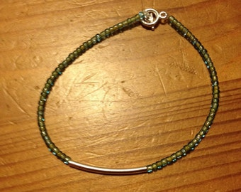 Blue and green bracelet