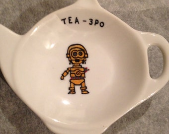 Star Wars themed tea-3PO tea bag tidy