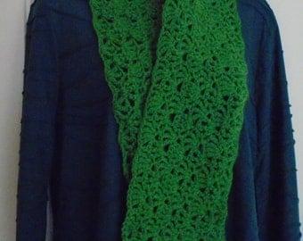 Lacy Fern Green Scarf
