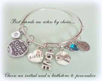 Friend Gift, Birthday Gift for Friend, Best Friend Gift, Personalized Gift, Initial Jewelry, Gift for Her, Birthday for Friend