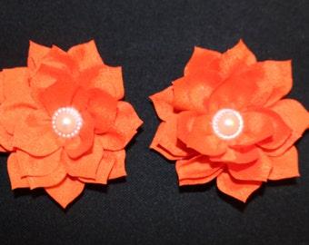Pearl Lotus Barefoot Sandal Set (Orange)