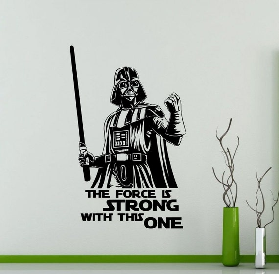 Star Wars Quotes The Force: Darth Vader Wall Decal Star Wars Quote Vinyl Sticker The Force