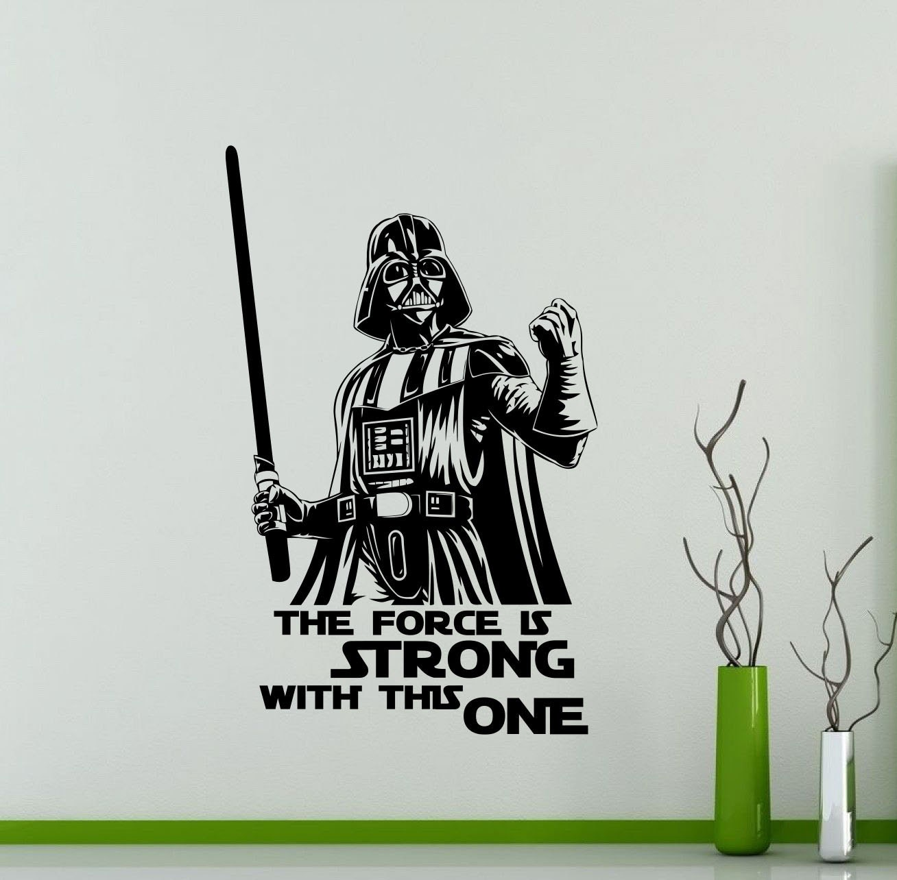 Darth vader wall decal star wars quote vinyl sticker the force zoom amipublicfo Gallery