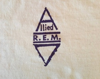 1988 REM Local Crew Working Alone Together Tour T-shirt