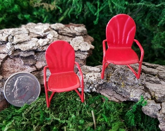 Miniature Teeny Red Lawn Chair
