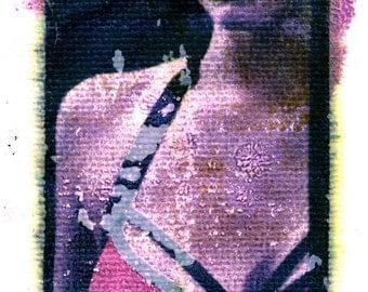 The art of lingerie polaroid transfer
