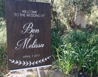 Wedding sign. Wedding welcome sign. Ceremony sign. Wedding props. Formal wedding sign. Rustic wedding sign. Bespoke sign australia