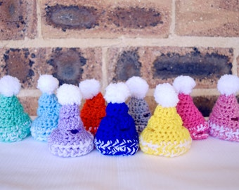 Pet bunny beanies, pet crochet hats, pet beanies, pet rabbit clothing and accessories