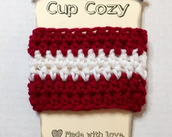 Coffee Sleeve, Coffee Cozy, Crocheted Coffee Cozy, Coffee Sleeve, To-Go Cup Cozy