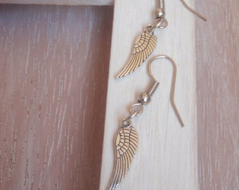 Silver earrings /Pendientes hook hippy in silver + charms butterflies, wings, dragonflies, Margaritas, feather silver ancient style Boho