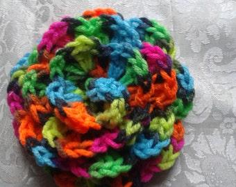 Multicolor crochet flower