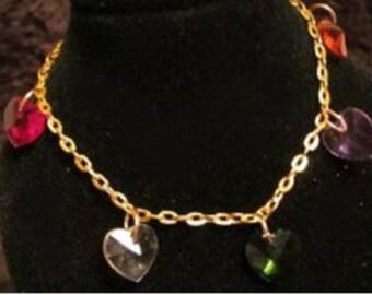 Swarovsky Crystal Heart Bracelet