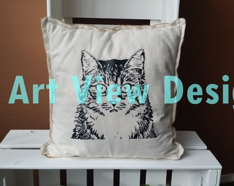 Pillowcase Cat with sackcloth
