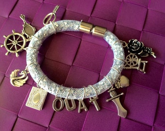 Bracelet charm Once upon a time - Ohia - CaptainSwan - Charming - OutlawQueen - Rumbelle