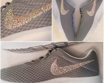 Custom Nike Tanjun with Swarovski Crystals