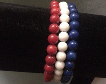 Red White & Blue Patriotic bracelet