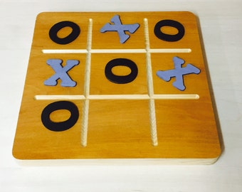 Tic Tac Toe | Wooden Coffee Table Game, Various Color Options