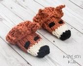 Fox Baby Mittens - Hand K...