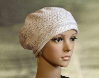 Womens knit beret, Knitted beret tam, Women's spring hat, Ladies knit beret, Knitted beret lady, Knitted wool beret, Knit beanie tam