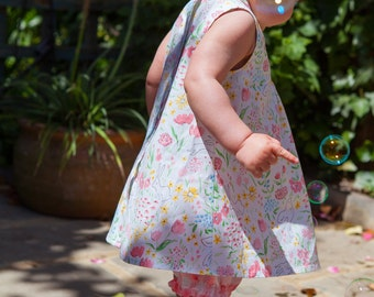SALE!  Baby Girls Summer Dress and Bloomers