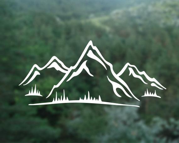 Mountain Vinyl Decal Mountain Wall Sticker Car Window Decal