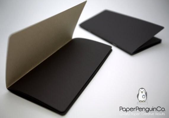 Midori Insert Black Paper MTN Travelers Notebook Black Brown Regular A5 Wide B6 Personal A6 Pocket FN Passport Mini / Bullet Journal/Refill
