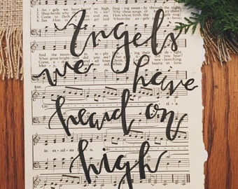 Angels We Have Heard on High- HYMN PAGE PRINT