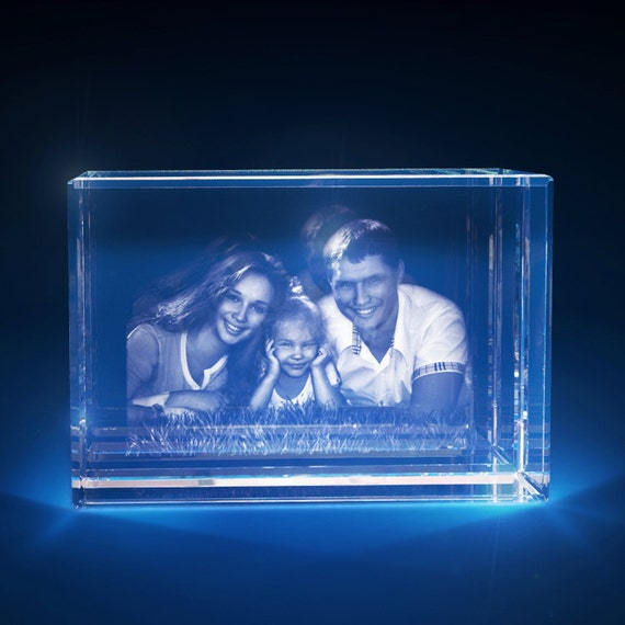 3D Laser Crystal Personalized Etched Engrave Paperweight