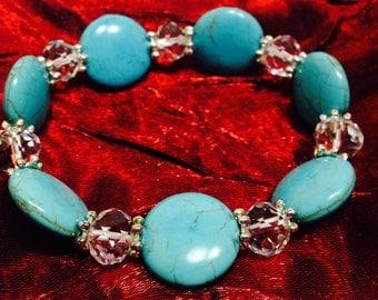 Sale! Turquoise Magnesite Bracelet