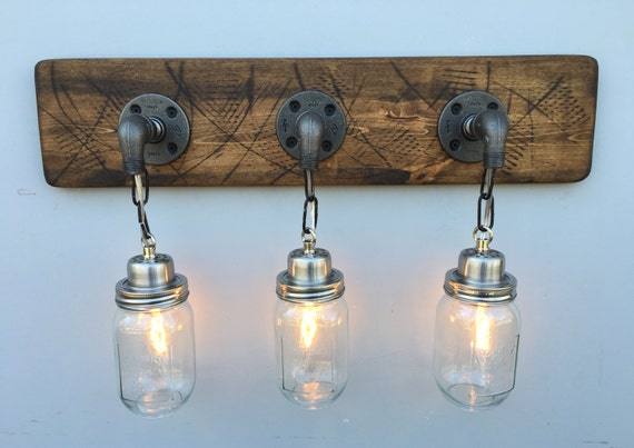 country bathroom lighting vanity light fixture 3 country style jar light by 12560