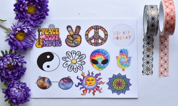 Tumblr Stickers Hippie Stickers Indie Stickers Pack Of