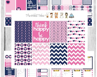 Freestyle Planning - Think Happy, Be Happy Kit - planner stickers