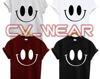 smiley face t shirt happy im swag dope fashion tumblr quote slogan morning person fantasy mens womans unisex